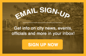 Sign up for city e-mails